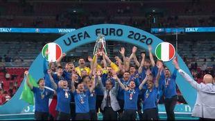 Italia, ganadora de la última edición de la Eurocopa.