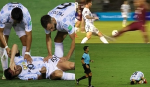 ¿La peor entrada a Leo Messi en su carrera?