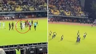 Invasión de campo para abrazar a Messi: un niño con la camiseta del PSG lo logró y la reacción de Leo...