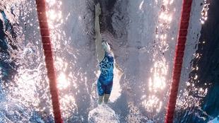 Jessica Long, durante una de las seis pruebas que ha nadado en Tokio.