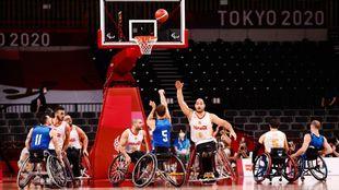 Partido de semifinales entre España y Estados Unidos en el Ariake...