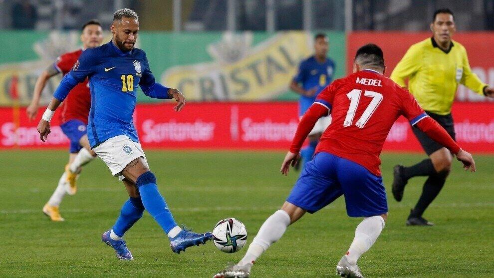 Neymar Brasil contra Chile eliminatorias Conmebol