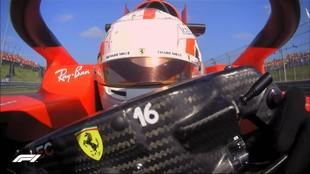 Leclerc, durante los Libres 2, del GP de Países Bajos 2021.