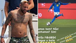 Vuelven a acusar de sobrepeso a Neymar y responde