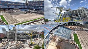 Así avanzan las obras del Bernabéu: la cuarta megacercha ya está izada