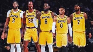 Davis, Howard, James, Westbrook y Anthony, cinco de los siete Al Star...