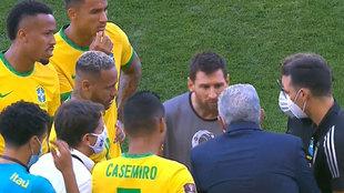 """Messi: """"¿Estaban esperando a empezar el partido?"""""""