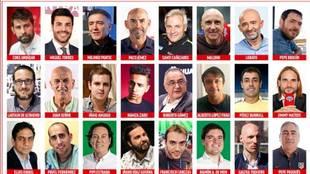 Coke, Miguel Torres, Pantic, Jémez, Cañizares, Maldini, Lobato... en el equipazo de Radio MARCA