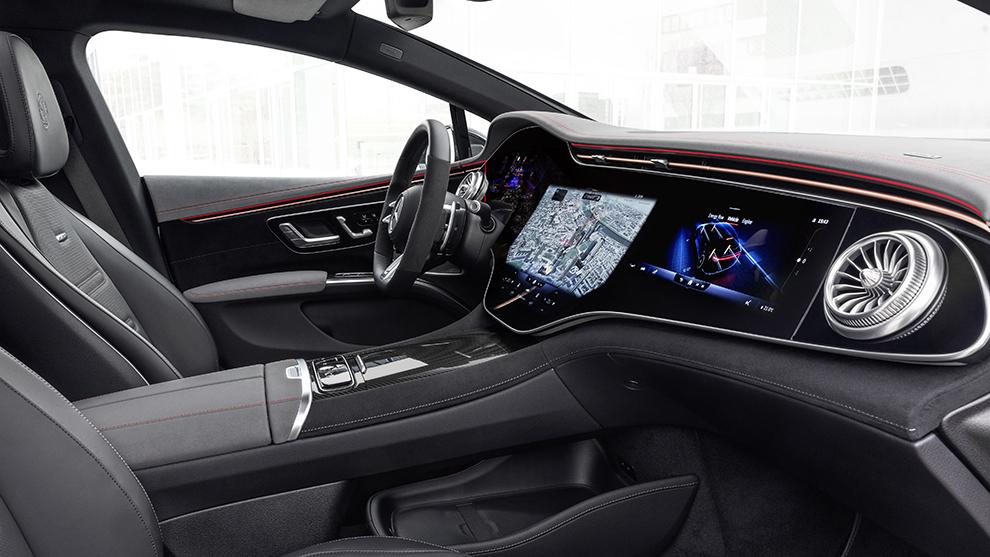 Mercedes-AMG EQS 53 4Matic - Lewis Hamilton - IAA 2021 - salon de Munich 2021 - berlina electrica - inteiror
