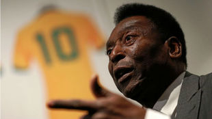 Pelé, durante una entrevista.