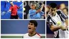 Federer, Nadal, Djokovic y Alcaraz, el año de su debut en el US Open