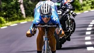 Imanol Erviti, durante el pasado Tour de Francia.