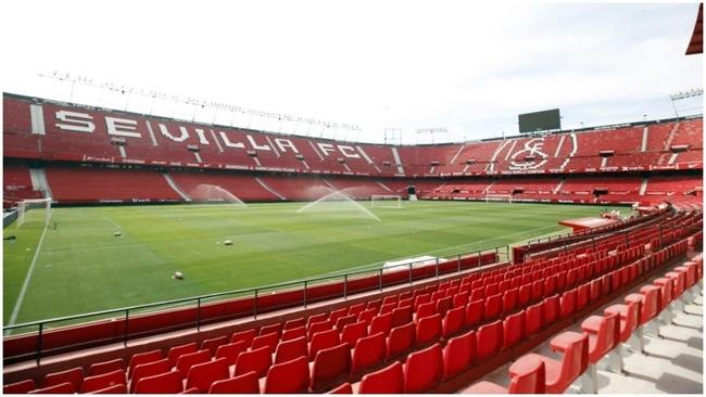 El estadio Sánchez Pizjuán, todavía sin público.