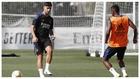 Asensio,durante un entrenamiento con el Real Madrid.