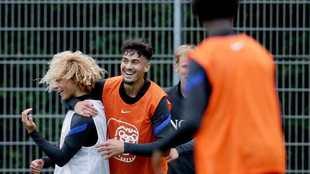 Xavi Simons, durante un entrenamiento con la sub 19 de Países Bajos.