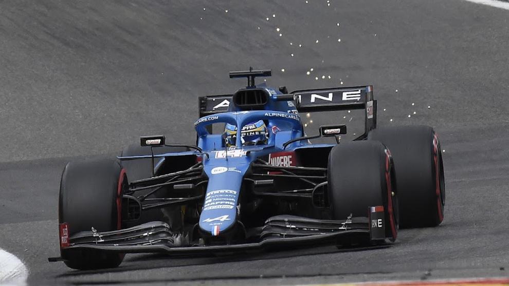 Alonso, en pista.