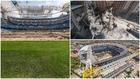 Imágenes del estado del Santiago Bernabéu