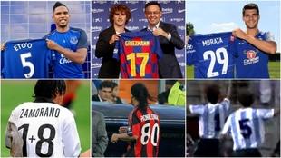 Etoo, Griezmann, Morata, Zamorano, Ronaldinho y Ardiles.