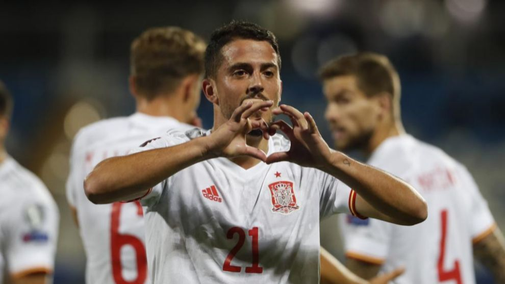 Fornals celebra el primer gol de España