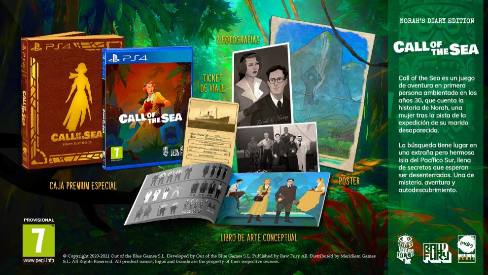 Edición especial de Call of the Sea para PlayStation 4