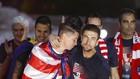 Gabi y Torres celebran la Europa League ganada en 2018, único título...