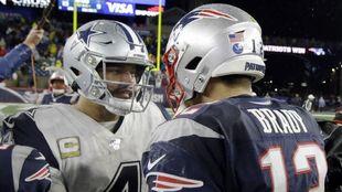 Tom Brady and Dak Prescott after their 2019 game