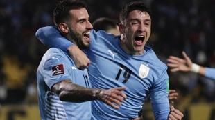 Celebración del gol de Pereiro.