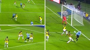 Fede Valverde, desatado con Uruguay: jugadón de escapista...¡y vaselina al larguero!