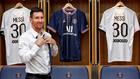 Leo Messi, el día de su presentación como nuevo jugador del PSG.