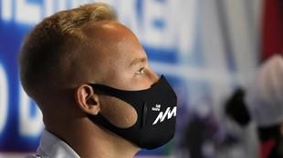 Mazepin, en el Gran Premio de Italia 2021.