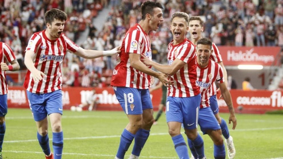 El Sporting se mantiene líder tras derrotar al Leganés por lamínima y mantiene un punto de ventaja sobre la Ponferradina