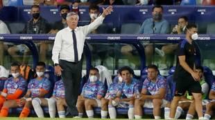 Ancelotti, en un partido con el Real Madrid de esta temporada.