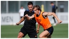 Hazard y Modric, durante un entrenamiento.