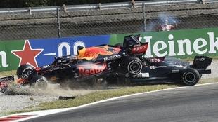 Así han quedado los coches de Verstappen y Hamilton tras el accidente...
