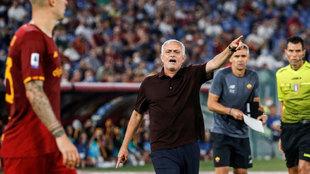 José Mourinho, ante el Sassuolo.