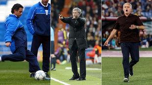 Mourinho con Oporto, Real Madrid y Roma.