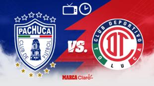 Pachuca vs Toluca: Horario y dónde ver en vivo.
