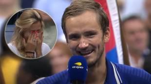 Gana el US Open y Medvedev sorprende con esta declaración de amor ante 20.000 personas