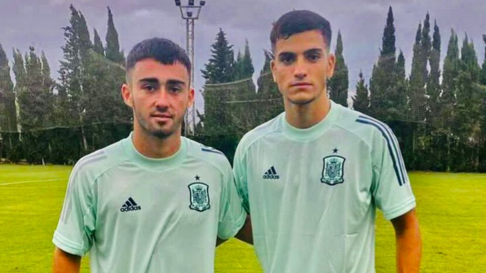 Moleiro and Ale García, teammates in the UD and in the Spanish U19 team
