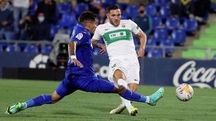 Lucas Pérez marca ante el Getafe