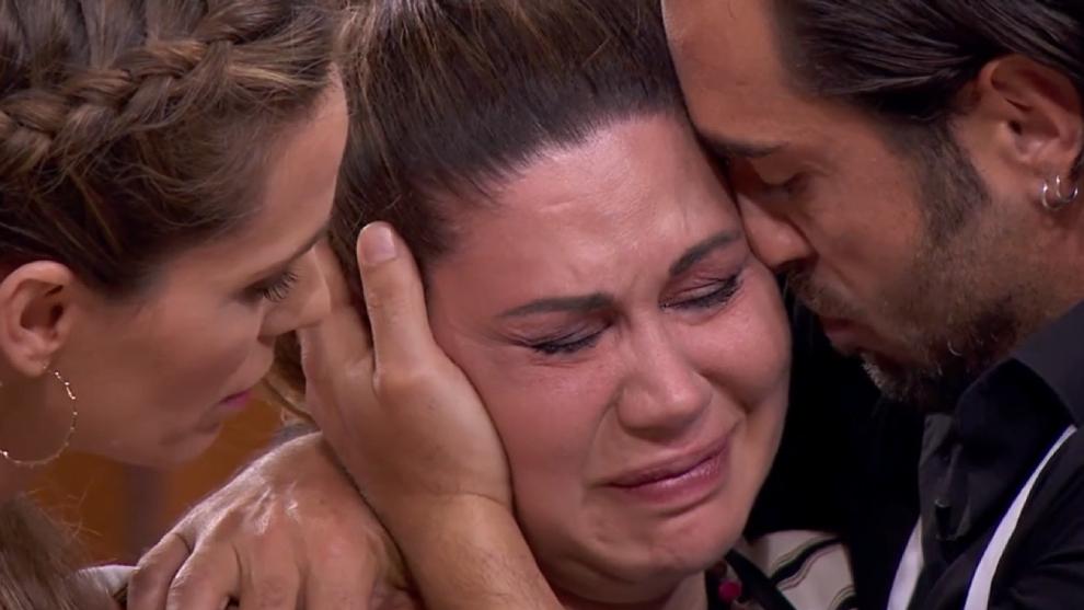Tamara, consolada por Vanesa Romero y David Bustamante en MasterChef Celebrity 6