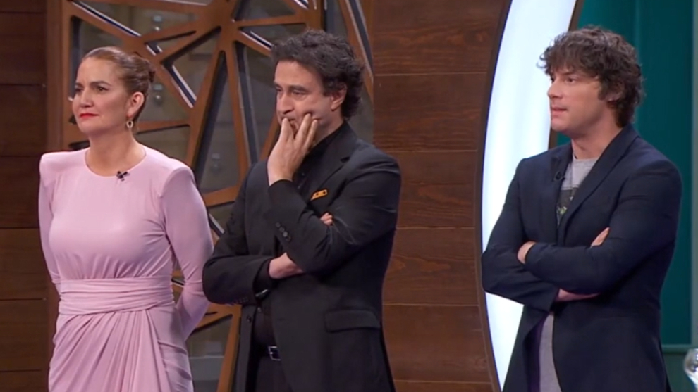 Samantha Vallejo-Nágera, Pepe Rodríguez y Jordi Cruz en MasterChef Celebrity 6