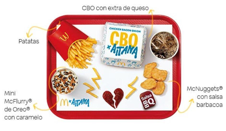 El menú de Aitana en McDonald's
