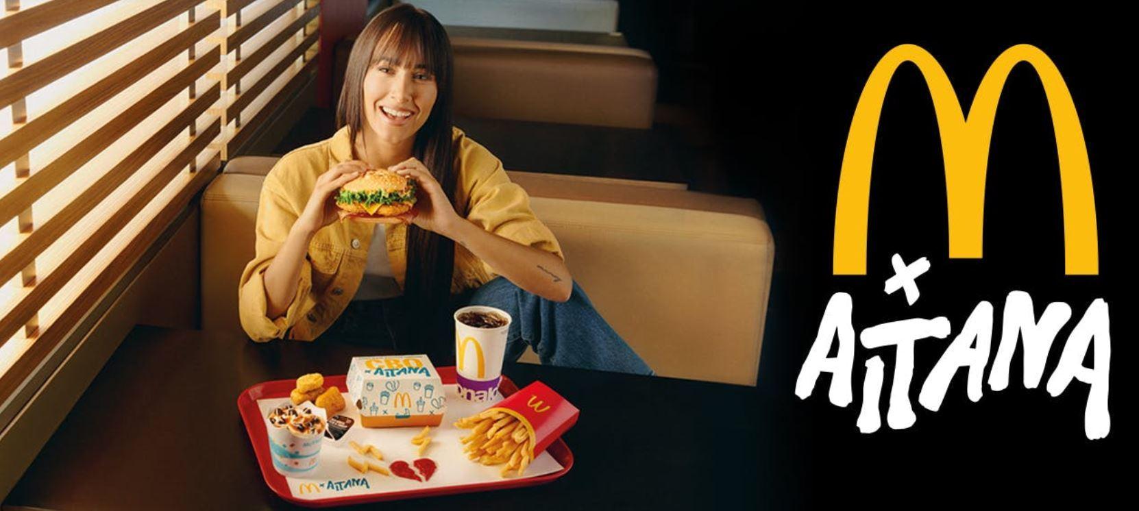 Aitana, con su menú de McDonald's