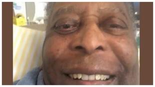 Imagen de Pelé que ha colgado su hija en redes sociales.