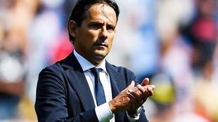 Inzaghi, durante un encuentro del Inter de Milán.