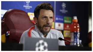 Eusebio di Francesco, en una rueda de prensa previa a un partido de...