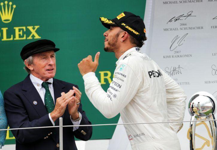 Sir Jackie Stewart y Lewis Hamilton