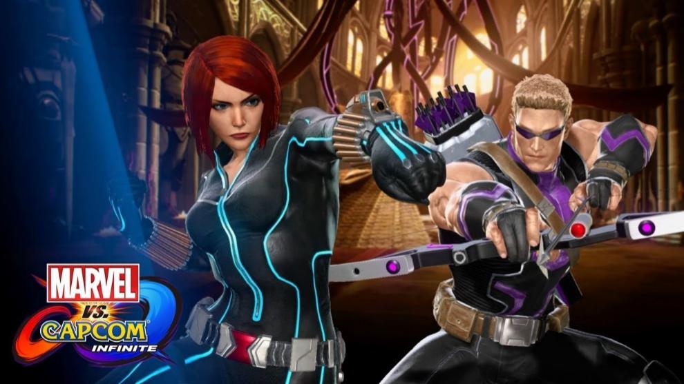 Viuda Negra y Ojo de Halcón en MARVEL Vs Capcom Infinite