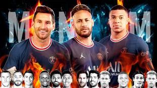 Messi. Neymar y Mbappé.